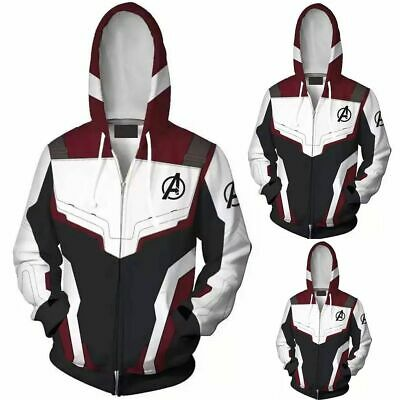 Avengers 4 Endgame Imprimés 3D Hoodies Hommes Sweat Zipper Veste Manteaux Cool