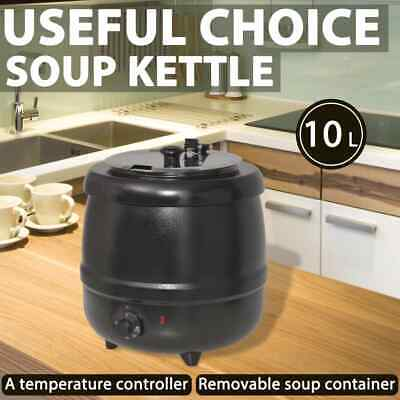 vidaXL Electric Soup Kettle 10L Home Restaurant Boiler Heat Food Warmer Cooker