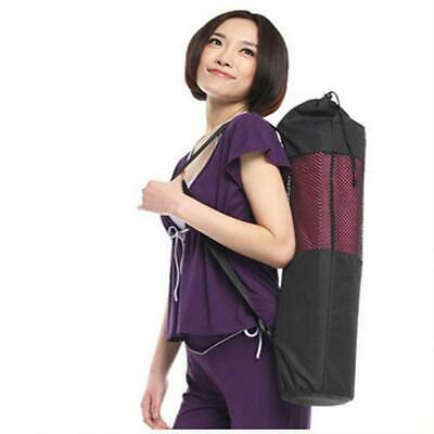 1X Foam Yoga Mat Carrier Carry Bag Nylon Mesh Adjustable Strap Washable Exercise