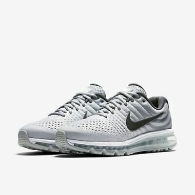 the best attitude ace1f 8c504 Nike Air Max 2017 Size 11-14 White Dark Grey Wolf Grey Running Shoes 849559