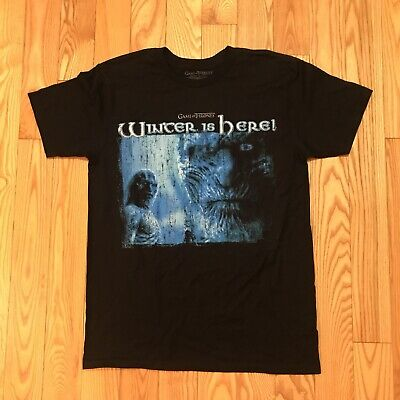 Vintage Game Of Thrones Winter Is Here T-Shirt Size Medium