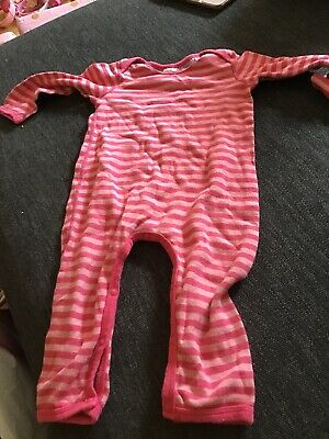 Pink Baby girls Bonds Stripe Romper One piece Size 0