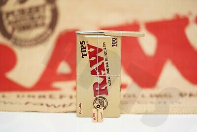 1x Tin(100 Tips Per Tin) Of AUTHENTIC Raw Rolling Paper Pre-Rolled Tips