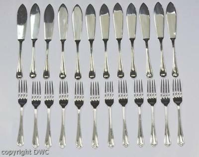 Fischbesteck versilbert England Sheffield fish knife and fork silver in Holzbox