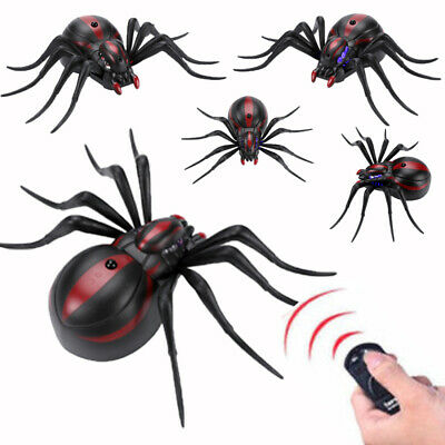 Plastic Infrared Remote Control Spider Prank Insects Joke Scary Toys Huge #y