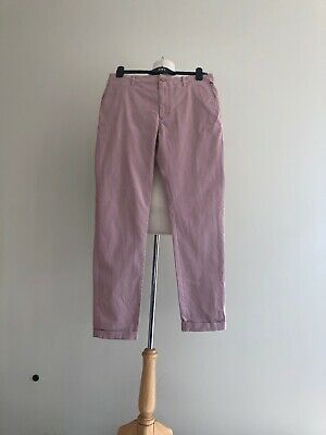 Mens URBAN OUTFITTERS Skinny Fit Plaster Pink Trousers W32  VGC