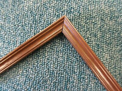 4 x 1m lengths (4m) - Small 13mm Wooden Walnut Effect Picture Frame Moulding