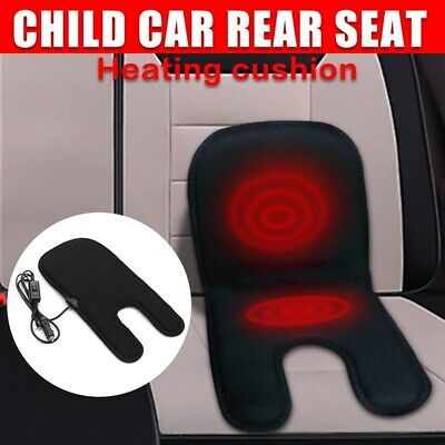 Autoleader Black 12V Car Baby Carbon Fiber Heated Seat Cover Heater Heating