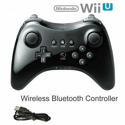 Wireless Gamepad Joypad Cable Remote Controller For Nintendo Wii U Black White I