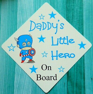 Baby Hearty Handmade Grandads Little Prince Baby On Board Car Sign Special Buy