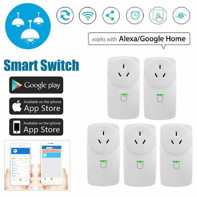 5 x 10A/16A Wifi Smart Power Socket Outlet Switch APP For ECHO ALEXA GOOGLE HOME