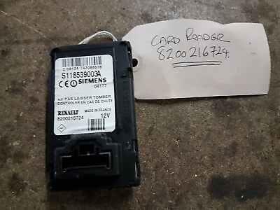 Renault Scenic Card Reader 8200216724