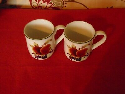 Royal Worcester Evesham vale ****2 MUGS EXCELLENT UNUSED CONDITION ****