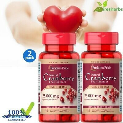 CRANBERRY EXTRACT 25000mg ANTIOXIDANT URINARY TRACT HEART HEALTH SUPPLEMENT 60ct