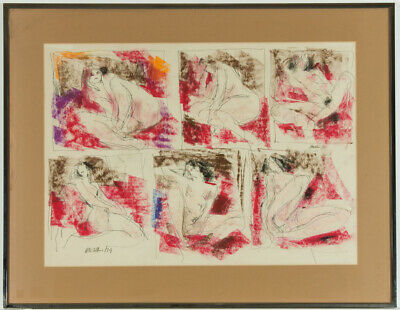 Peter Collins ARCA - Signed and Framed c.1970s Pastel, Female Nudes