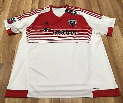 timeless design b1fda 2daad NEW ADIDAS DC United MLS 2016/17 Soccer Jersey White Red Sz ...