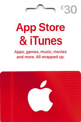 iTunes Gift Card £30 GBP UK British Apple App Store  Code £30 Pound  | 3 x £10