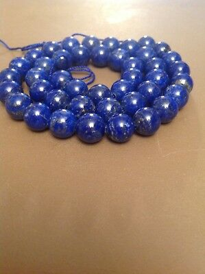 Natural Royal Blue Afghan Lapis Lazuli Gemstone Beads 8mm/16 Inch Str. UNTREATED