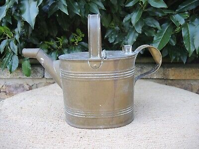 Antique  Brass Watering Can  Hot Water Can 4 Pint Capacity  (723)