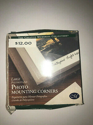 96 Large Photo Mounting Corners by Creative Memories Scrapbook Adhesive Tape NEW