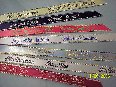 Personalized Ribbons Party Favors Wedding Quinceanera Baby Bridal