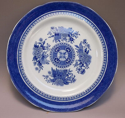 "Copeland Spode FitzHugh Blue Transferware Small Bread Plate England 6 "" Lot of 2"