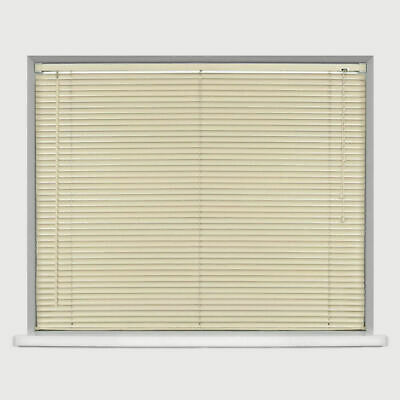 Easy Fit Trimable PVC Venetian Blind Office Home Window Blinds Drop 150cm Cream