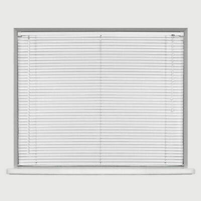 Easy Fit Trimable PVC Venetian Blind Office Home Window Blinds Drop 150cm White