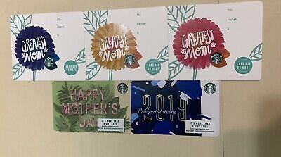 NEW STARBUCKS 2019 HAPPY MOTHERS DAY CARD+ 3 Die Cut + Congratulations 2019