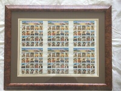 Scott Us #2869A-T Limited Ed Framed 1003/5000 Legends Of The West 6 Uncut Sheets
