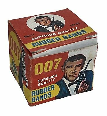 Vintage James Bond 007 1960s Rubber Bands Sean Connery Original