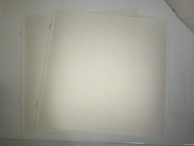 2 Loose Creative Memories 12x12 White Pages Scrapbook Album Refill True Size