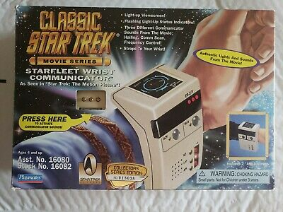 Classic Star Trek Movie Series Starfleet Wrist Communicator/Phaser Playmates