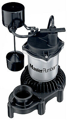 PENTAIR WATER Sump Pump, Zinc & Plastic Construction, 1/3-HP Motor, 3,600 GPH