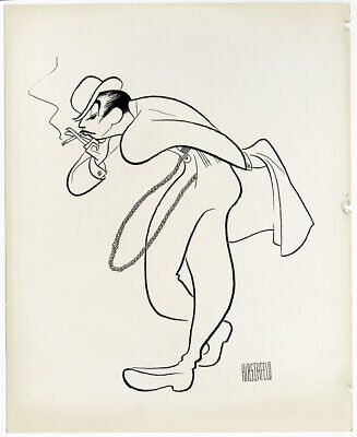 Legendary Jazz Dancer & Choreographer Jack Cole Vintage Hirschfeld Photo Drawing