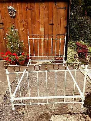 Antique French Brass And Iron Bed