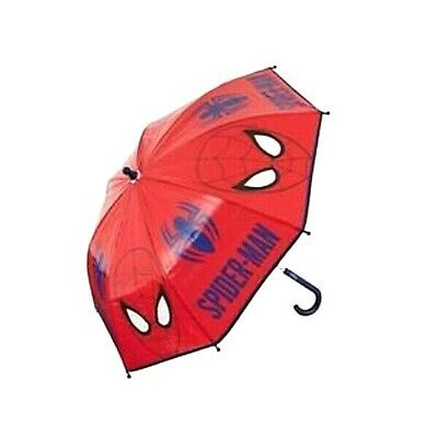 Marvel Ultimate Spiderman Umbrella - Approx Size 66 X 64 cm, Red Blue 8 Panel