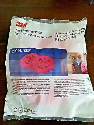 3M 2091 Particulate Dust Filters P100 Made In USA New 2 pack