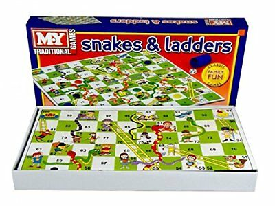 Snakes and Ladders Board Game Traditional Children Games X 1, - [Family Fun]