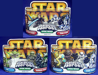 NEW Star Wars GALACTIC HEROES Lot CHEWBACCA Clone Trooper KASHYYYK Yoda ANAKIN