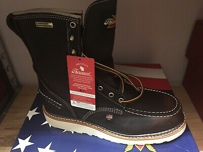 "ae55404d146 MEN'S THOROGOOD 814-3800 8"" Moc Toe Wedge Waterproof USA New In Box ..."