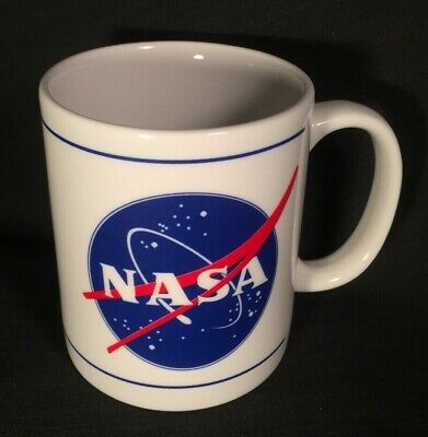 Vintage NASA Space Glass Coffee Mug Get with Program SPACE Moon NOS NEW