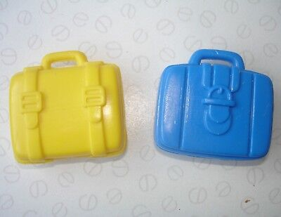 Barbie Shelly / Kelly Doll Accessories - Yellow & Blue Colour Suitcases Bags