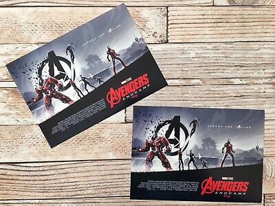"Lot of 2 - AVENGERS ENDGAME AMC IMAX Mini Poster (11"" x 15.5 "") NEW"