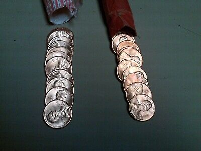 1989 P & 1989 D Unc Penny Rolls 1 Roll Each Date Unc  Lincoln Memorial Cents