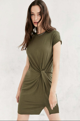 8e3d81f9c4f Urban Outfitters Silence + Noise green round neck knotted waist t shirt  dress S