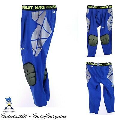 14edcbff759d0 NEW NIKE PRO 3XL HyperStrong Baseball Tight Slider Pant Mens Dri-Fit Blue  $100RP