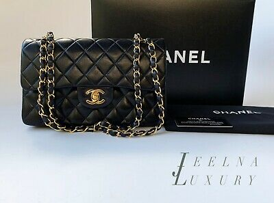 94c5939a68c4 Auth Chanel Black 2.55 Small 9