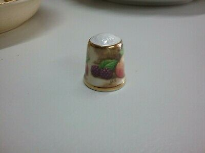 Thimble Fruits Bone China Made In England Good Condition