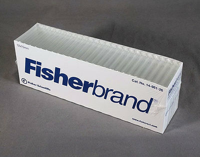 12 x 75 mm Disposable Glass Culture Tubes Fisherbrand No 14-961-26